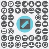 Arrow icons set. Stock Photos