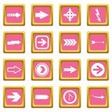 Arrow icons pink Stock Photos