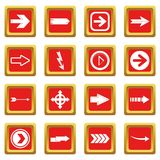 Arrow icons set red Stock Images