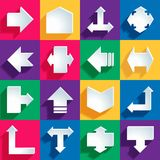 Arrow icons set Royalty Free Stock Image