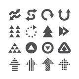 Arrow icons set vector black colour design. Royalty Free Stock Image