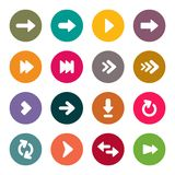 Arrow icons set Royalty Free Stock Images