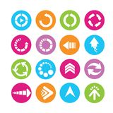 Arrow icons Stock Images