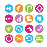 Arrow icons Stock Photography