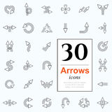 30 arrow icons Royalty Free Illustration