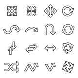 Arrow icons set. Thin Line Style stock vector. stock photo