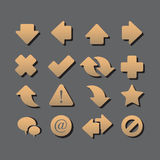 Arrow icons with shadow Royalty Free Stock Photo