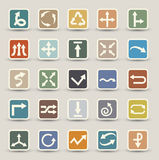 Arrow icons vector Stock Images