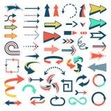 Arrow icons vector set arrowheads direction or cursed arrow  Stock Photos