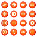 Arrow icons vector set Stock Photos