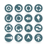 Arrow icons, web buttons Stock Images