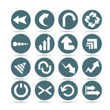 Arrow icons, web buttons Stock Photography