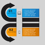 Arrow Infographic Banner Royalty Free Stock Photos