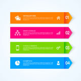 Arrow infographic design elements.  Vector illustration. Arrow infographic design. Infographic design elements.  Infographic design vector. Steps option banners Royalty Free Stock Photos