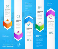 Arrow infographic design elements.  Vector illustration. Arrow infographic design. Infographic design elements.  Infographic design vector. Steps option banners Royalty Free Stock Image