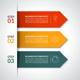 Arrow infographic design template. Vector Stock Image