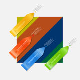 Arrow infographic on multicolor background Royalty Free Stock Image