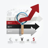 Arrow  infographic paper cut style template Stock Photos