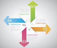 Arrow Infographic Stock Photography