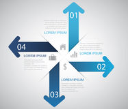 Arrow Infographic Royalty Free Stock Image