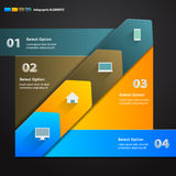 Arrow Infographic Template Royalty Free Stock Photo