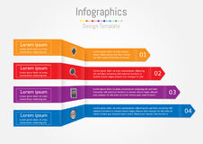Arrow infographic template for business Stock Photos