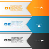 Arrow Infographic Template Royalty Free Stock Images