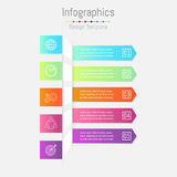 Arrow infographic template. Vector layout for business. Stock Images