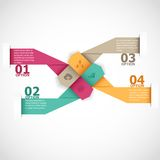 Arrow infographics. Abstract arrow infographics template. This is file of EPS8 format Stock Images