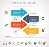 Arrow infographics design Royalty Free Stock Images