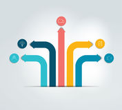 Arrow infographics scheme, flowchart, template. Stock Image
