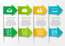 Arrow infographics template. Abstract arrow infographics template. Business concept with 4 options, parts, steps or processes. Can be used for workflow layout royalty free illustration
