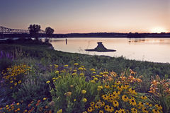 Arrow Island on Mississippi Stock Photography