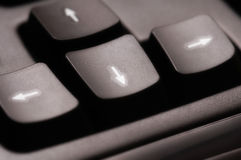 Arrow keys-2 Stock Photography