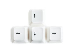 Arrow keys royalty free stock images