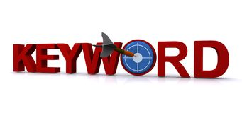 Arrow in a keyword sign Royalty Free Stock Photo