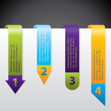 Arrow labels with grades Royalty Free Stock Image
