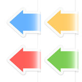 Arrow labels ste. Set of colorful blank arrow labels. Vector illustration Stock Photography