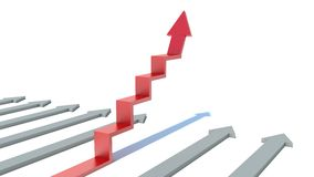 Arrow ladder way to success concept on white background Royalty Free Stock Photos