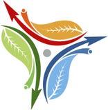 Arrow leaf logo. Illustration art of a arrow leaf logo with isolated background Stock Photography