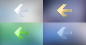 Arrow Left 3d Icon. On gradient background Stock Photography