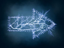 Arrow of a lightning Royalty Free Stock Photo