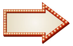Arrow lights sign royalty free illustration