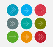 Arrow line icons set Stock Photo