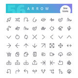Arrow Line Icons Set. Set of 56 arrow line icons suitable for web, infographics and apps. Isolated on white background. Clipping paths included stock illustration