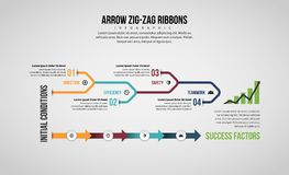 Arrow Line Infographic Stock Image