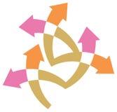 Arrow logo. Isolated line art work Stock Image