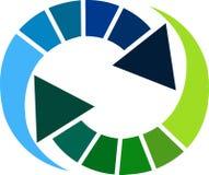 Arrow logo. Illustration art of a arrow logo with isolated background Stock Image
