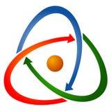Arrow logo. Illustration of arrow logo design isolated on white background Stock Image