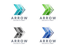 Arrow logo. This logo can be used in design studios and web, marketing companies, software development companies and applications, among other uses. Its design Royalty Free Stock Images